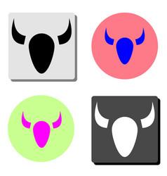 bull flat icon vector image