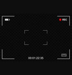 camera focusing screen vector image