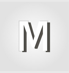 capital letter m on a grey background vector image