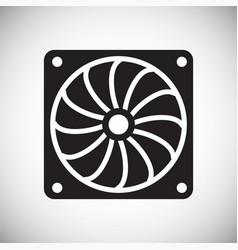 Car cooler fan on white background for graphic and vector