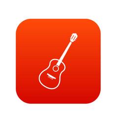 Charango icon digital red vector