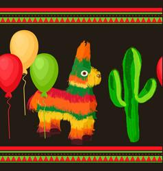 Cinco de mayo mexican festive seamless pattern vector