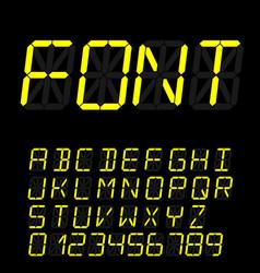digital font sign retro alphabet vector image