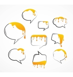 dropping honey from speech bubbles vector image