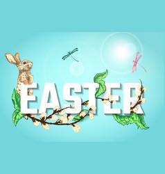 Easter sketch bg vector
