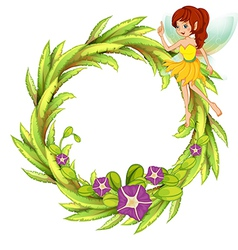 Fairy Floral Frame vector image