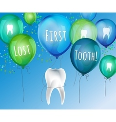 First lost tooth vector image