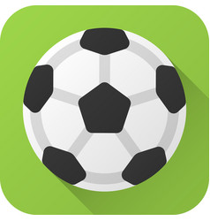 Flat icon toy leather black and white soccer ball vector
