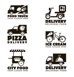 food transport emblems vector image
