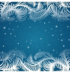 Frame of frosty pattern vector