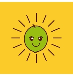 fruit character design vector image