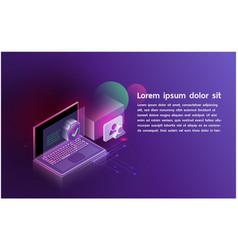futuristic smartsecurity controls technology vector image