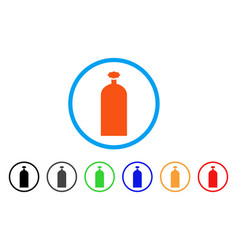 Gas cylinder rounded icon vector