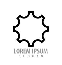 gear line logo concept design symbol graphic vector image