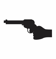 hand and gun dark silhouette vector image