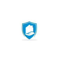 home realty shield company logo vector image