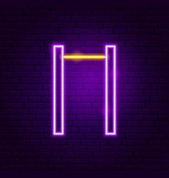 horizontal bar neon sign vector image