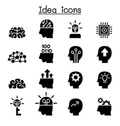idea creative icon set vector image