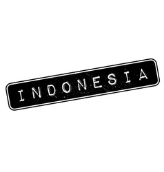 Indonesia rubber stamp vector