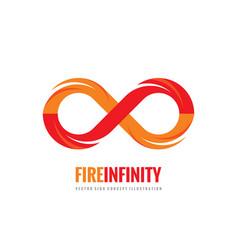 Infinity - logo template concept vector