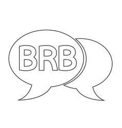internet acronym chat bubble vector image