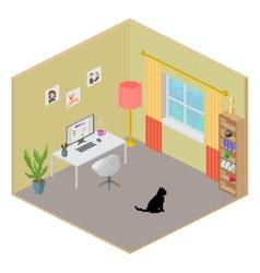 Isometric room interior vector image