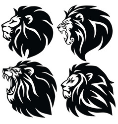 Lion logo set premium design icons vector