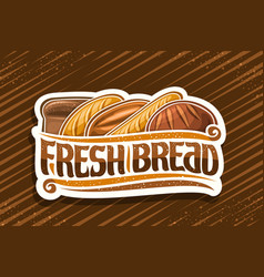 logo for fresh bread vector image