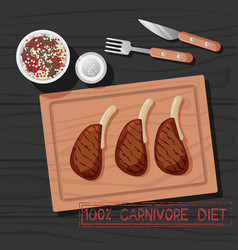 Meal carnivore diet vector