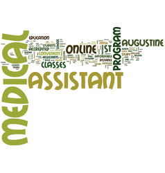 medical assistant class text background word vector image