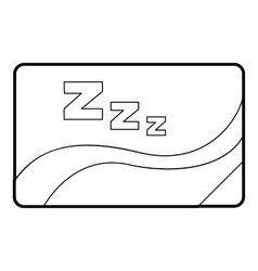 Medical card of sleep icon outline style vector