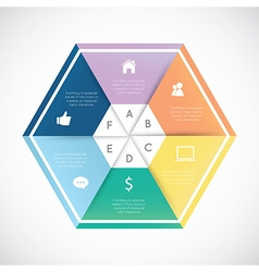 Modern hexagon infographics vector