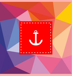 nautical card with anchor on flat wrapping surface vector image