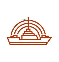 navy ship radar logo vector image