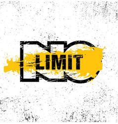 no limit creative inspiring motivation quote vector image