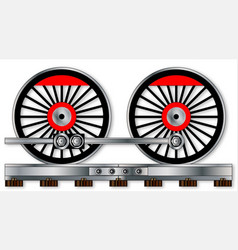 pair of train wheels vector image