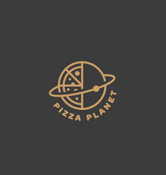 pizza planet logo vector image