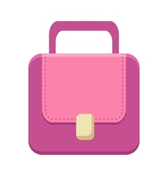Purple Ladies Handbag vector image