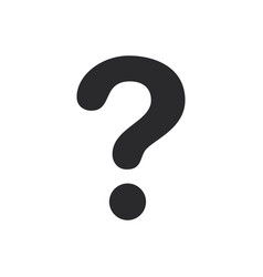 question mark icon in modern style for web site vector image