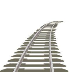 Railway line vector