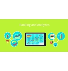 Ranking and Analytics Design Concept vector