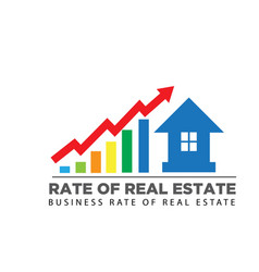Rate sales up real estate business logo designs vector