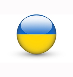 Round icon with national flag of Ukraine vector image