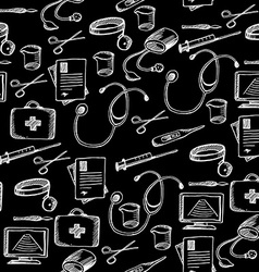 Seamless pattern background medical equipment vector image