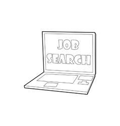 Search job icon in outline style vector image
