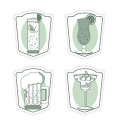 Set of bar drinks vector