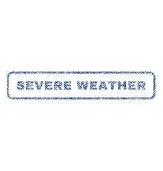 Severe weather textile stamp vector