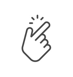 shap finger icon shap finger pointer isolated on vector image