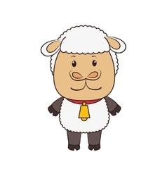 sheep animal cartoon vector image