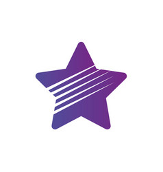 simple flat star logo with lines isolated on vector image